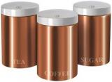 Набор банок Berlinger Haus Rose Gold 3 банки Ø11х17.8см из нержавеющей стали для кофе, чая и сахара