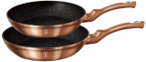 Набір 2 сковороди Berlinger Haus Rose Gold Ø22см і Ø26см, індукційні з антипригарним покриттям