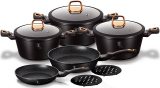 Набор кухонной посуды Berlinger Haus Black Rose 10 предметов