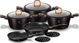 Набір кухонного посуду Berlinger Haus Black Rose 10 предметів