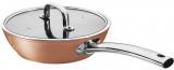 Сковорода-сотейник Berlinger Haus Bronze Titan 24см с титановым покрытием, с крышкой
