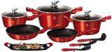 Набір кухонного посуду Berlinger Haus Burgundy 12 предметів