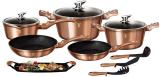 Набір кухонного посуду Berlinger Haus Rose Gold 12 предметів
