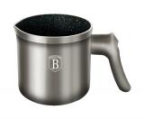 Кружка для кип'ятіння молока (молочник) Berlinger Haus Carbon 1л, мармурове антипригарне покриття