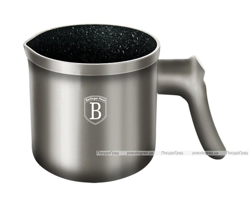 Кружка для кипячения молока (молочник) Berlinger Haus Carbon 1л, мраморное антипригарное покрытие