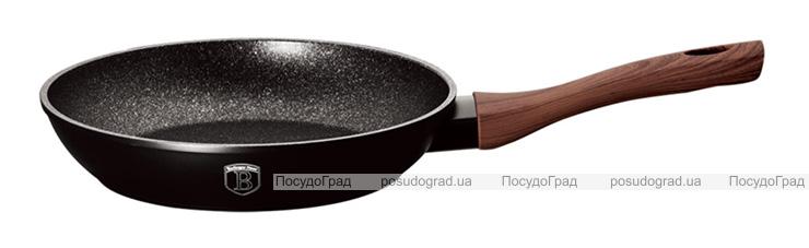 Сковорода Berlinger Haus Ebony Rosewood Ø24см, мраморное антипригарное покрытие