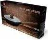 Глубокая сковорода Berlinger Haus Ebony Rosewood Ø24см (2.3л) с крышкой, мраморное антипригарное покрытие