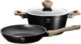 Набор посуды Berlinger Haus Ebony Maple сковорода Ø24см и кастрюля с крышкой 4.1л