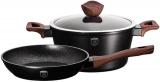 Набор посуды Berlinger Haus Ebony Rosewood сковорода Ø24см и кастрюля с крышкой 4.1л