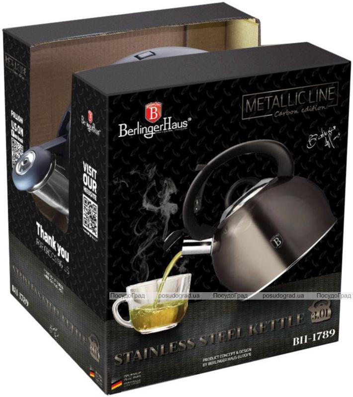 Чайник Berlinger Haus Carbon 3л со свистком