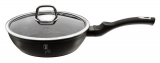 Сковорода-сотейник Berlinger Haus Black Silver Ø24см з кришкою, мармурове покриття