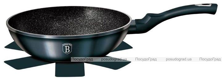Сковорода-вок Berlinger Haus Aquamarine Edition Ø28см з мармуровою крихтою