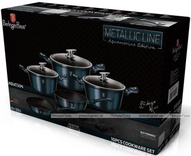 Набір кухонного посуду Berlinger Haus Aquamarine Edition 8 предметів + 2 підставки під гаряче