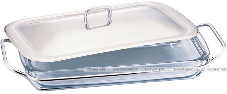 Блюдо сервировочное Berlinger Haus Black Silver 2.4л прямоугольное с подставкой из нержавеющей стали