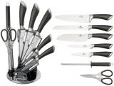 Набір кухонних ножів Berlinger Haus Carbon 7 предметів на акриловій підставці