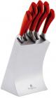 Набір 5 кухонних ножів Berlinger Haus Burgundy на підставці