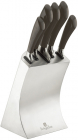 Набор 5 кухонных ножей Berlinger Haus Carbon на подставке