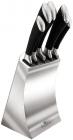 Набір 5 кухонних ножів Berlinger Haus Black Silver на підставці