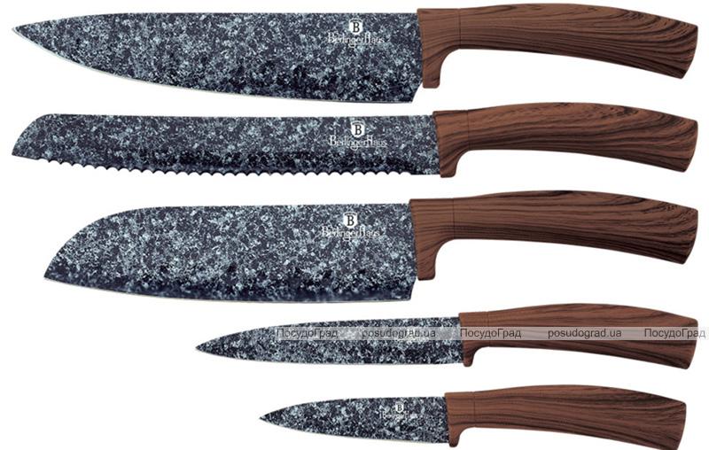 Набор ножей Berlinger Haus Forest Line 5 кухонных с мраморным покрытием ножей на подставке
