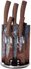 Набір ножів Berlinger Haus Forest Line 5 кухонних з мармуровим покриттям ножів на підставці