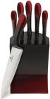 Набор 5 кухонных ножей Berlinger Haus Black Burgundy на подставке