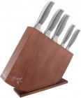 Набор 5 кухонных ножей Berlinger Haus Kikoza Wood на деревянной подставке