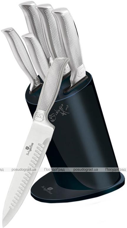 Набор 5 кухонных ножей Berlinger Haus Kikoza Sapphire на подставке из нержавеющей стали