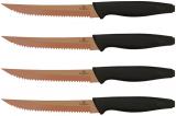 Набор 4 стейковых ножа Berlinger Haus Rose Gold 10см с антипригарным титановым покрытием