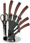 Набор кухонных ножей Berlinger Haus Ebony Rosewood 7 предметов на акриловой подставке