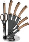 Набор кухонных ножей Berlinger Haus Ebony Maple 7 предметов на акриловой подставке