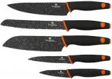 Набір 5 кухонних ножів Berlinger Haus Granit Diamond з мармуровим покриттям клинка