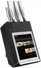 Набір кухонних ножів Berlinger Haus Kikoza Black підставці з тримачем для смартфону