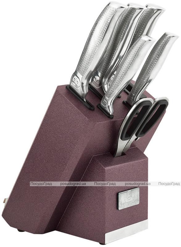 Набор кухонных ножей Berlinger Haus Kikoza Bordo 6 предметов на подставке с держателем для смартфона