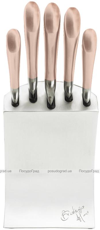 Набор кухонных ножей Berlinger Haus Rose Gold 5 предметов подставке