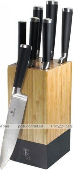 Набор ножей Berlinger Haus Black Royal 6 предметов на деревянной подставке