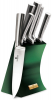 Набір 5 ножів Berlinger Haus Emerald Collection литі, на підставці