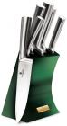 Набор 5 ножей Berlinger Haus Emerald Collection литые, на подставке