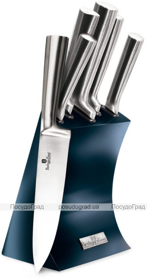 Набор 5 ножей Berlinger Haus Aquamarine Edition на подставке