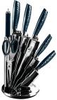 Набор ножей Berlinger Haus Aquamarine Edition 7 предметов на веерной подставке