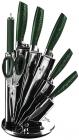 Набір ножів Berlinger Haus Emerald Collection 7 предметів на віїрній підставці