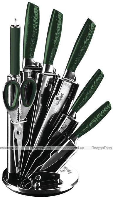 Набор ножей Berlinger Haus Emerald Collection 7 предметов на веерной подставке