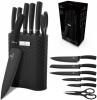 Набір кухонних ножів Berlinger Haus Black Silver 6 предметів на підставці