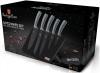 Набор 5 ножей Berlinger Haus Moonlight Edition с антипригарным покрытием, на магнитной подставке