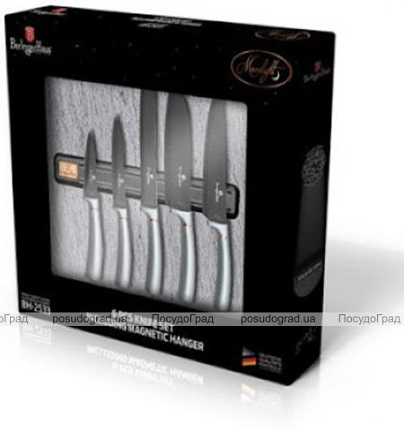 Набір 5 ножів Berlinger Haus Moonlight Edition з настінним кріпленням-магнітом