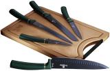 Набор ножей Berlinger Haus Emerald Collection 5 ножей и доска