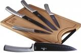 Набір ножів Berlinger Haus Moonlight Edition 5 ножів і дошка