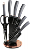 Набір ножів Berlinger Haus Moonlight Edition з 7 предметів на підставці, що обертається