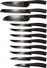 Набір кухонних ножів Berlinger Haus Black Silver 11 предметів з антибактеріальним покриттям