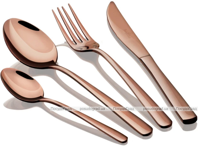 Набор столовых приборов Berlinger Haus Rose Gold 16 предметов на 4 персоны, глянцевый медный