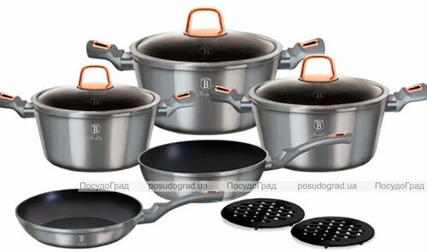 Набір кухонного посуду Berlinger Haus Moonlight Edition 10 предметів